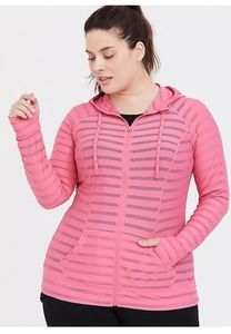 Pink Stripe Active Jacket